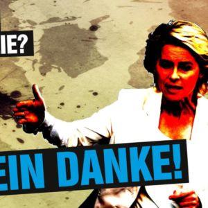 """""""Kriegsspaß für die ganze Familie? Mehr Krieg wagen? Nein danke!"""" Bundeswehr Transparent Linksjugend ['solid] Rheinland-Pfalz"""
