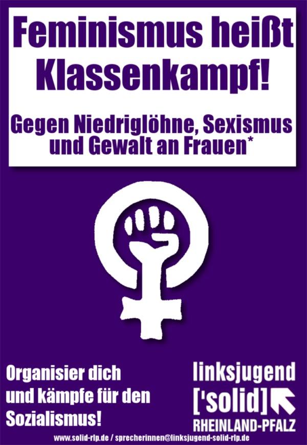 Feminismus bedeutet Klassenkampf!